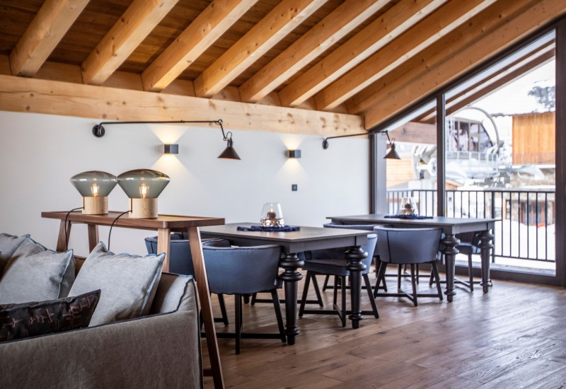 Alpe D'Huez Location Chalet Luxe Acenikite Table A Manger