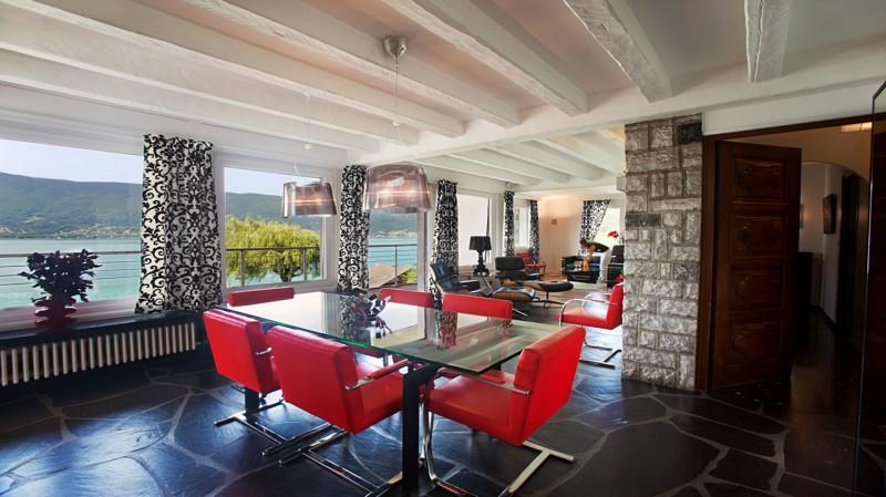 Annecy Location Villa Luxe Pierre De Canelle Salle A Manger
