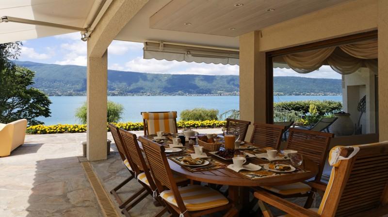 Annecy Luxury Rental Villa Pierre de Fee Terrace