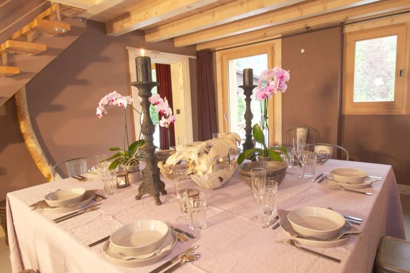 Argentière Location Chalet Luxe Calcite Table Manger2