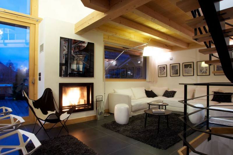 Chamonix Luxury Rental Chalet Cancrinite Living Area