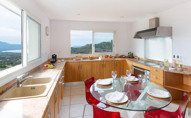 Calvi Location Villa Luxe Diademe Cuisine