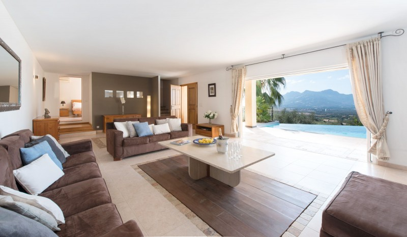 Calvi Luxury Rental Villa Diademe Royal Living Area