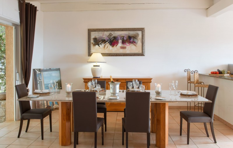 Calvi Location Villa Luxe Doste Salle A Manger