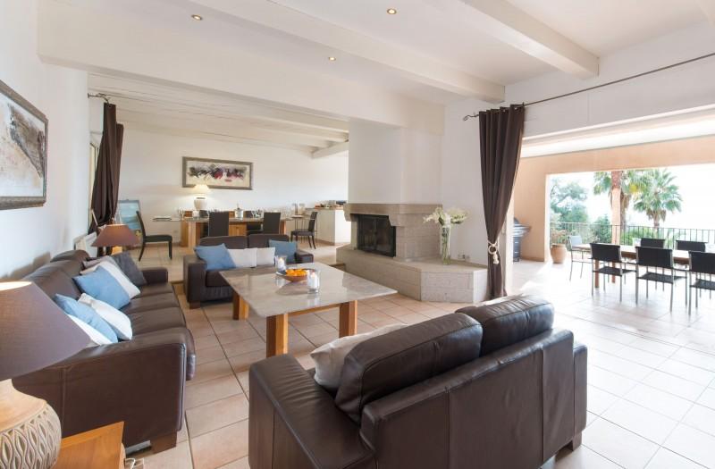 Calvi Luxury Rental Villa Doste Living Area