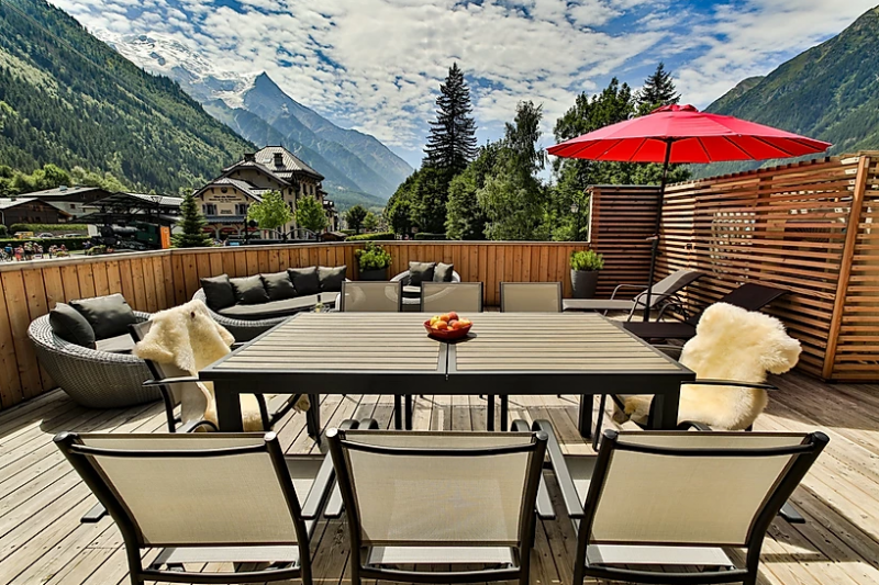 Chamonix Luxury Rental Appartment Courise Terrace