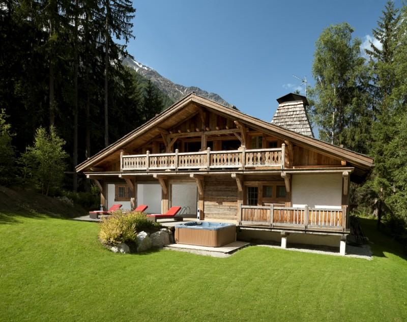 Chamonix Location Chalet Luxe Aconit Extérieur Eté