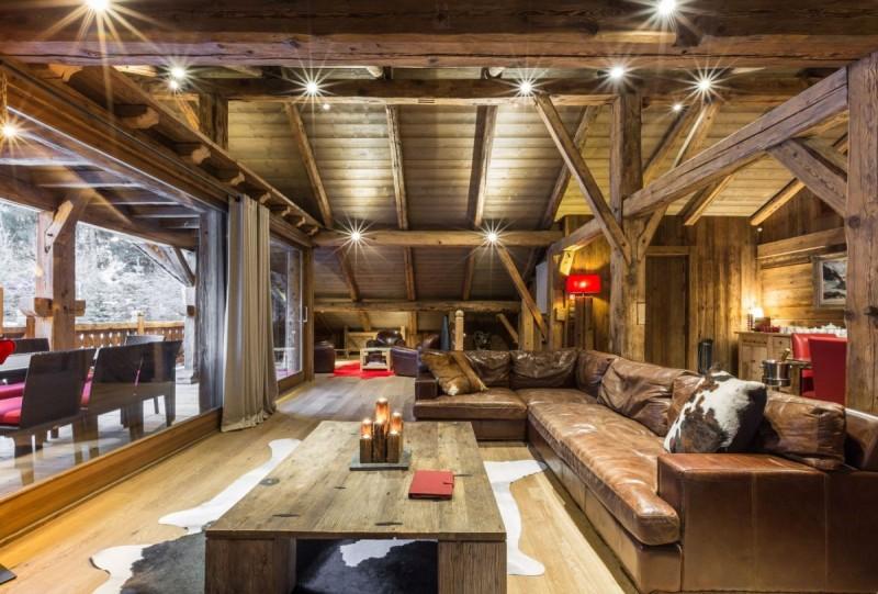 Chamonix Location Chalet Luxe Aconit Salon 1