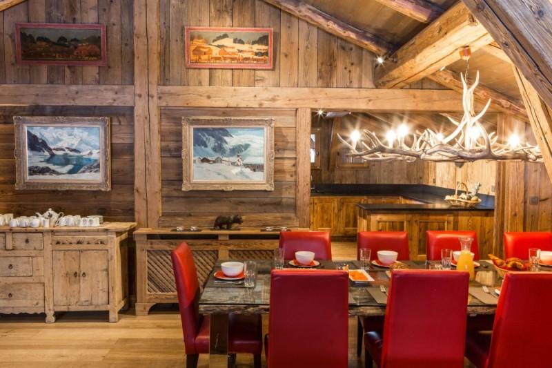 Chamonix Location Chalet Luxe Aconit Table à Manger