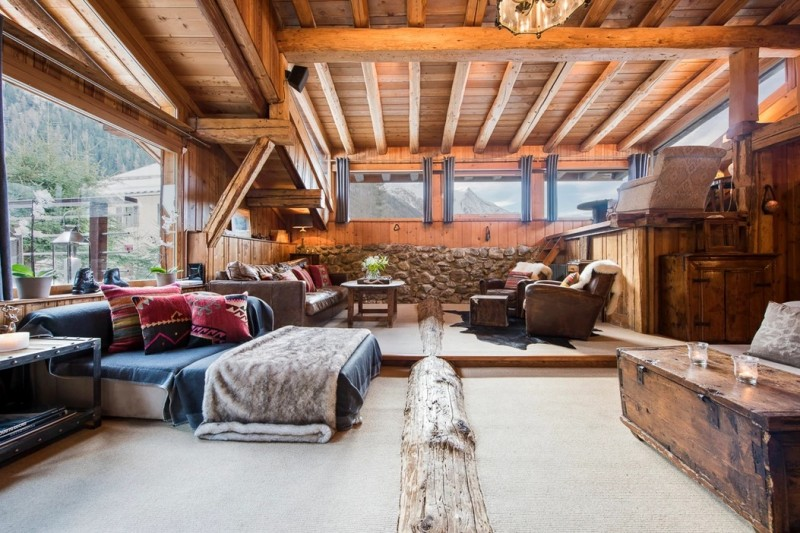 Chamonix Luxury Rental Chalet Coquelois Living Area 3