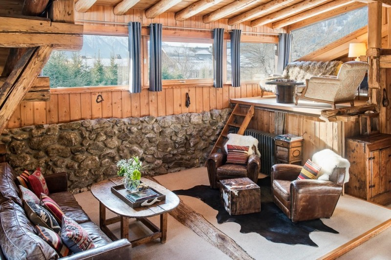 Chamonix Luxury Rental Chalet Coquelois Living Area 5