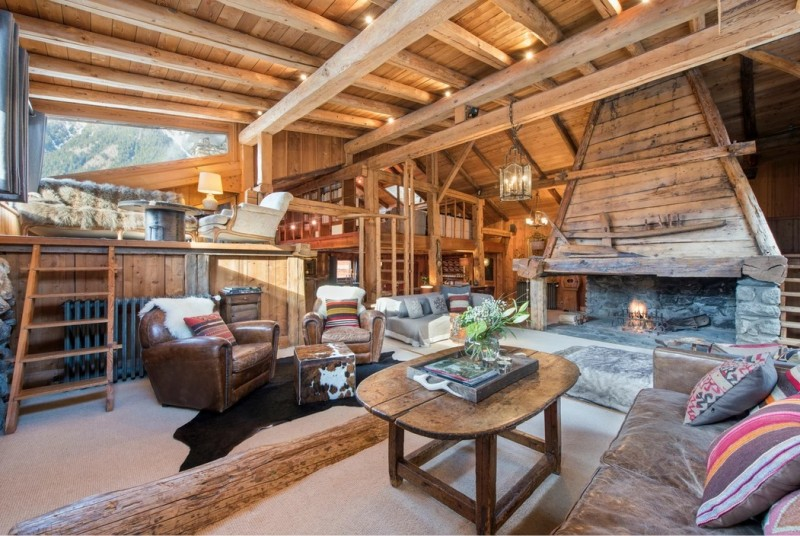 Chamonix Luxury Rental Chalet Coquelois Living Area