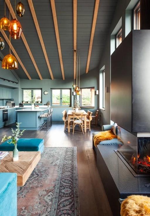 Chamonix Luxury Rental Chalet Coradu Living Room