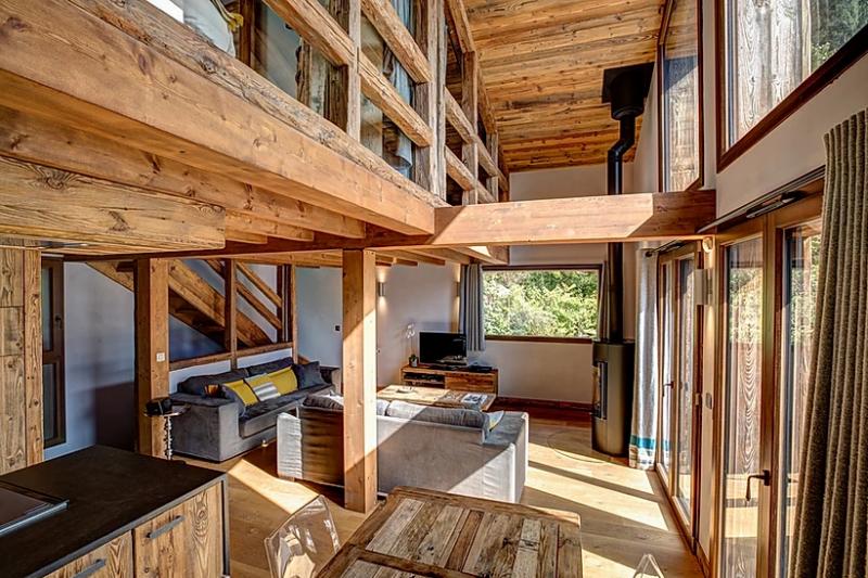Chamonix Luxury Rental Chalet Coraudin Living Room 2