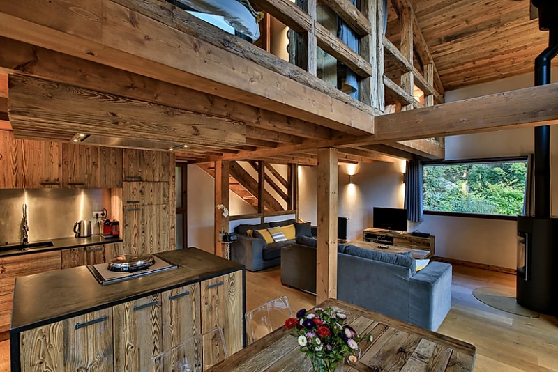 Chamonix Luxury Rental Chalet Coraudin Living Room 3