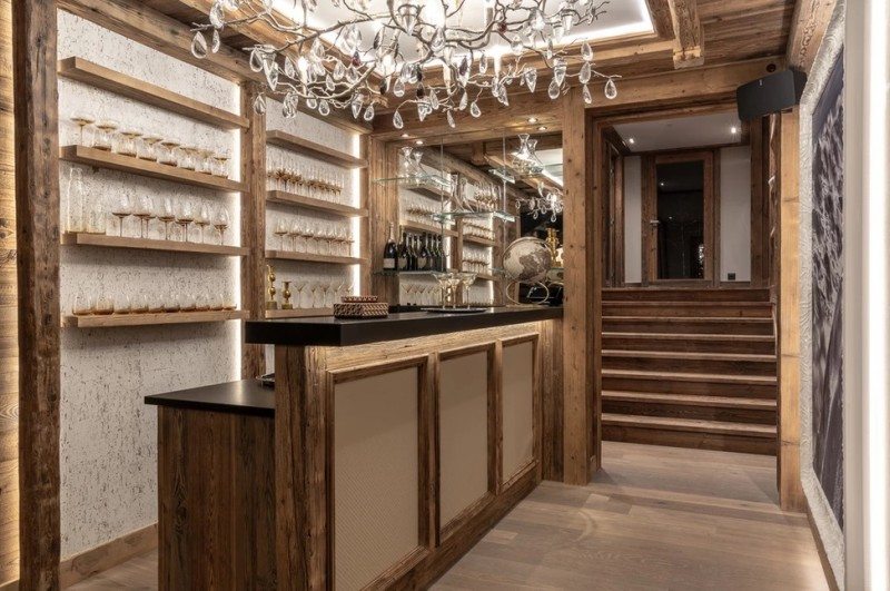 Chamonix Luxury Rental Chalet Cornite Bar