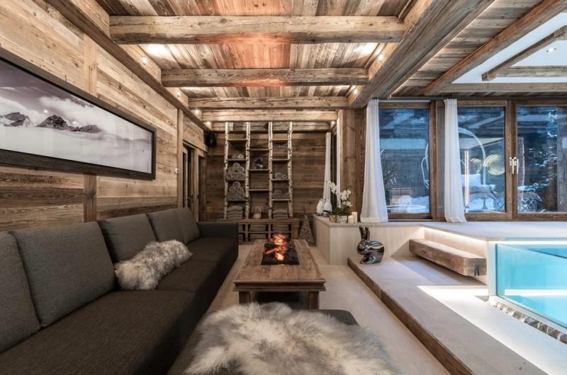 Chamonix Luxury Rental Chalet Cornite Relaxation Area