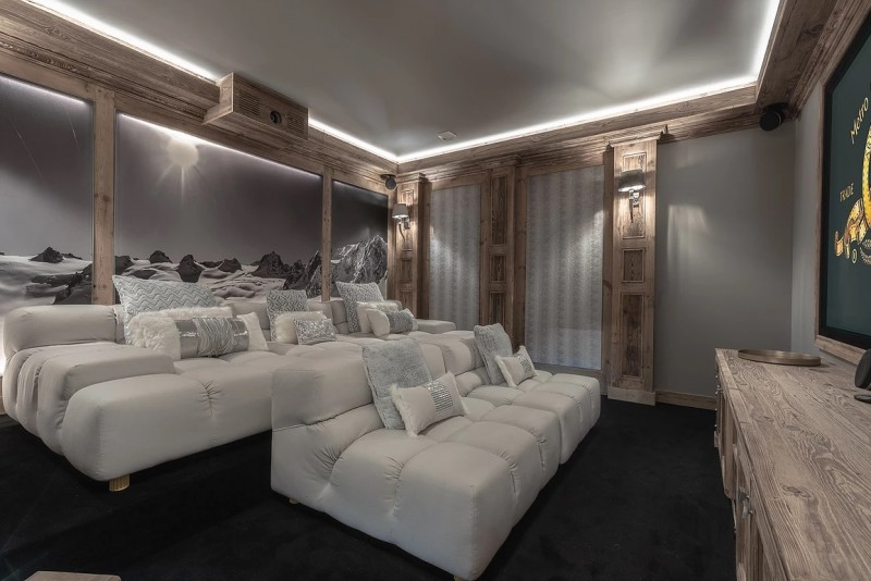 Chamonix Luxury Rental Chalet Cornite Cinema Room