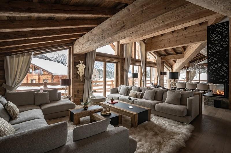 Chamonix Luxury Rental Chalet Cornite Living Area 3