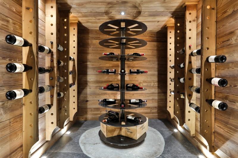 Chamonix Luxury Rental Chalet Coroudin Wine Cellar