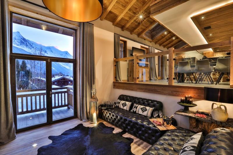 Chamonix Luxury Rental Chalet Coroudin Living Area 2