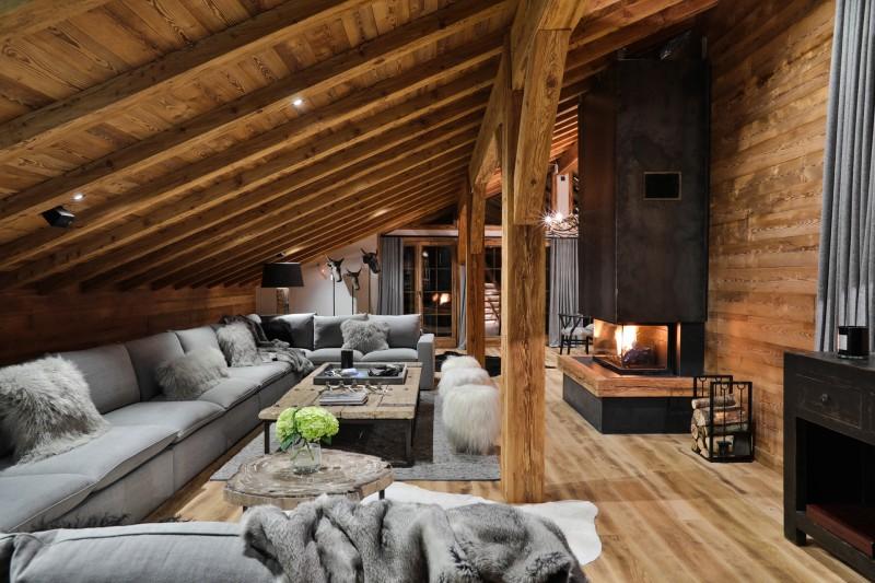 Chamonix Luxury Rental Chalet Coroudin Living Area 5