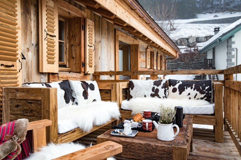 Chamonix Luxury Rental Chalet Coroudin Terrace
