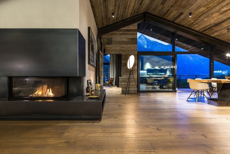 Chamonix Location Chalet Luxe Cotarix Salon 1