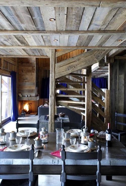 Chamonix Location Chalet Luxe Couruse Salle A Manger