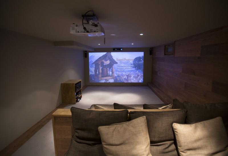 Chamonix Location Chalet Luxe Cristolite Salle Cinéma
