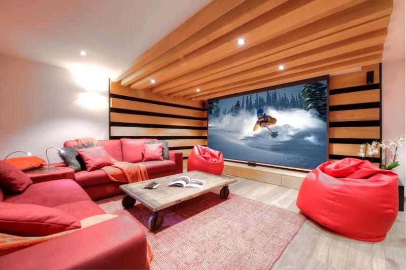 Chamonix Location Chalet Luxe Palandro Salle De Cinéma