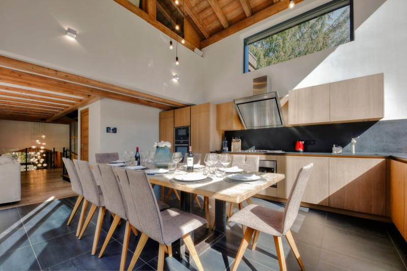 Chamonix Location Chalet Luxe Palandro Table A Manger