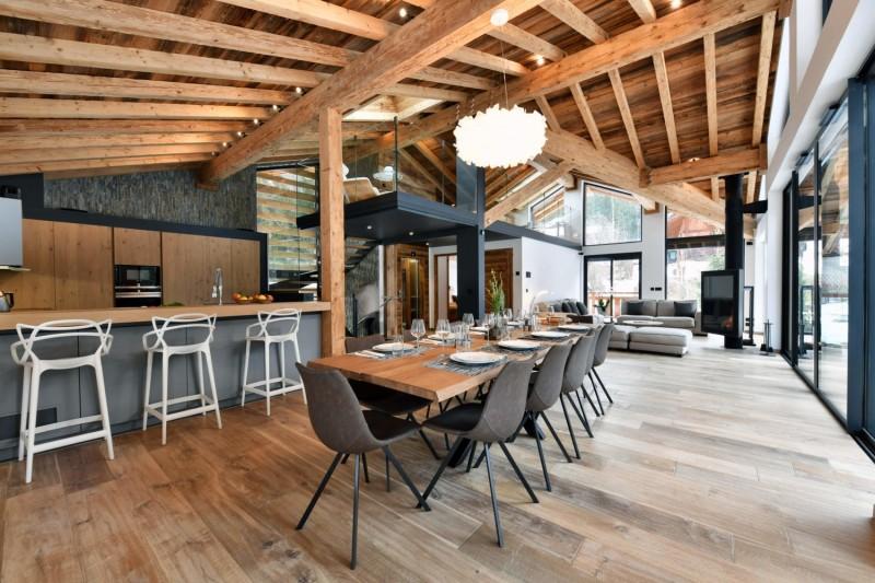 Chamonix Mont Blanc Rental Chalet Luxury Paradamete Kitchen