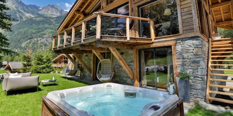 Chamonix Mont Blanc Rental Chalet Luxury Paradamete Jacuzzi
