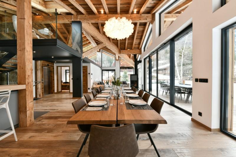 Chamonix Mont Blanc Rental Chalet Luxury Paradamete Dining Room
