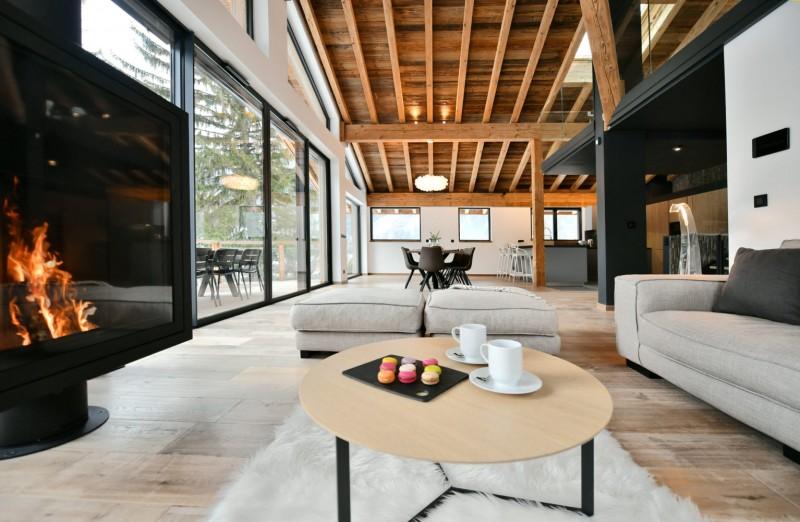 Chamonix Mont Blanc Rental Chalet Luxury Paradamete Living Room 1