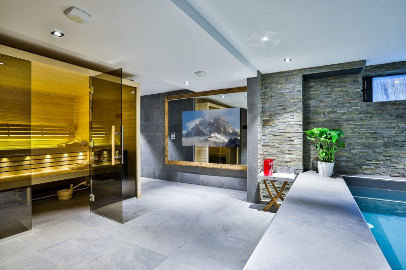 Chamonix Mont Blanc Rental Chalet Luxury Paradamete Sauna