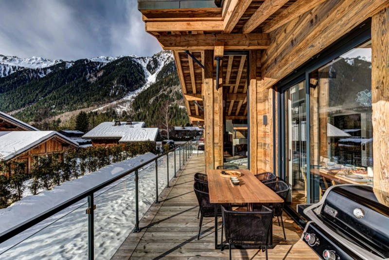 Chamonix Mont Blanc Location Chalet Luxe Paradamote Terrasse