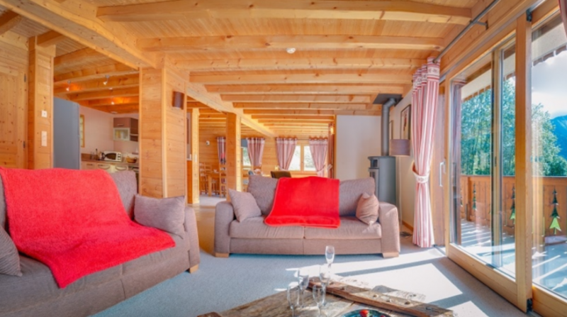 Chatel Luxury Rental Chalet Chadwickite Living Area