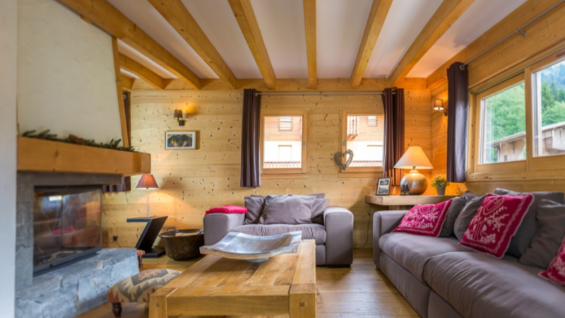 Chatel Luxury Rental Chalet Chalcantite Living Area 2