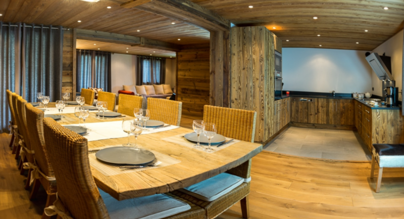 Chatel Luxury Rental Chalet Chambera Dining Area