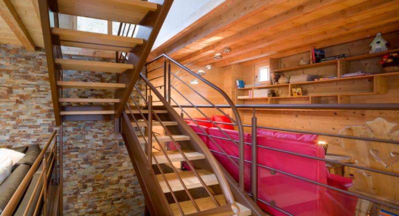 Chatel Luxury Rental Chalet Chambero Staircase