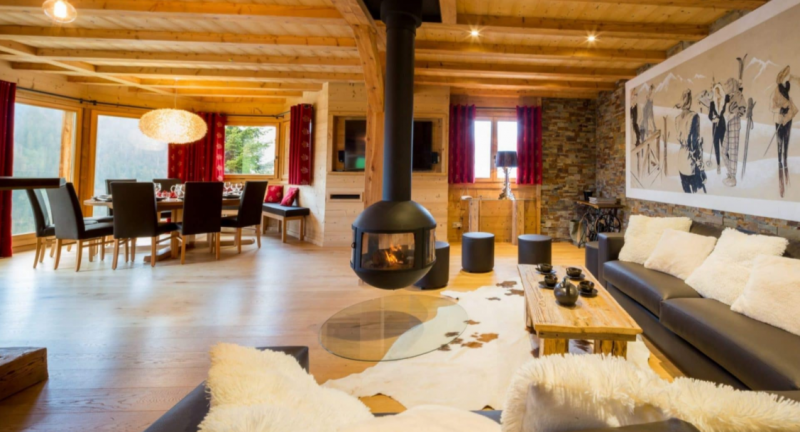 Chatel Luxury Rental Chalet Chambero Living Area