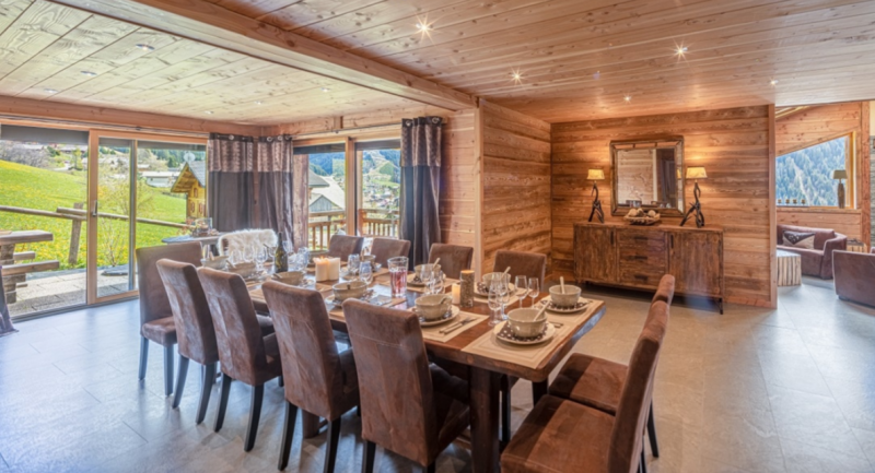 Chatel Luxury Rental Chalet Chapa Dining Area 2