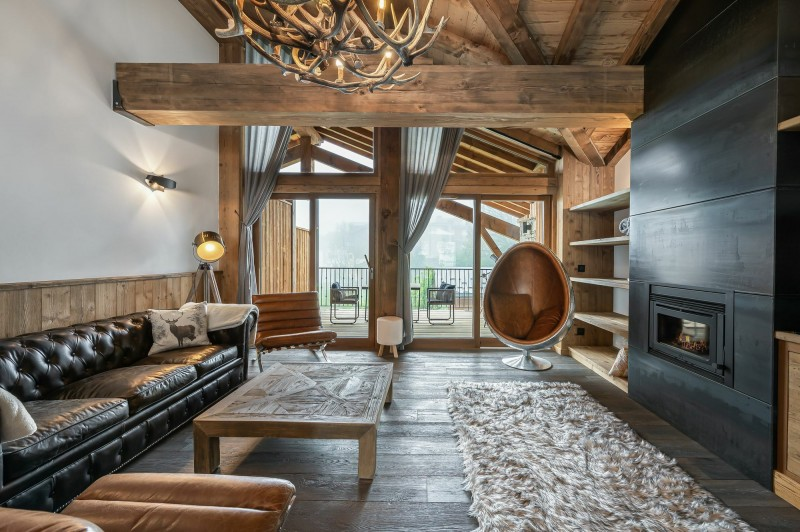 Courchevel 1300 Luxury Rental Appartment Tilante Living Room