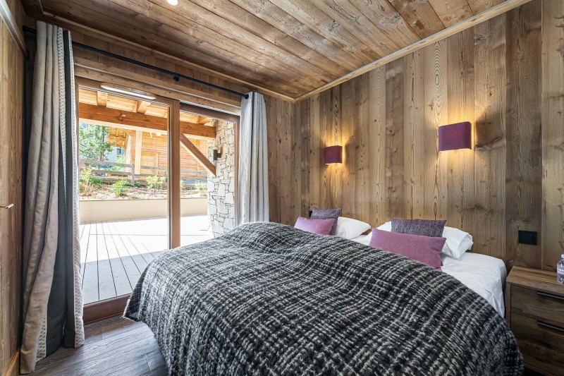 Courchevel 1300 Luxury Rental Appartment Tilate Bedroom