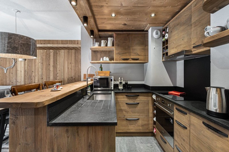 Courchevel 1300 Luxury Rental Appartment Tilate Kitchen