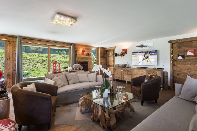 Courchevel 1300 Luxury Rental Appartment Tilure Living Room 2