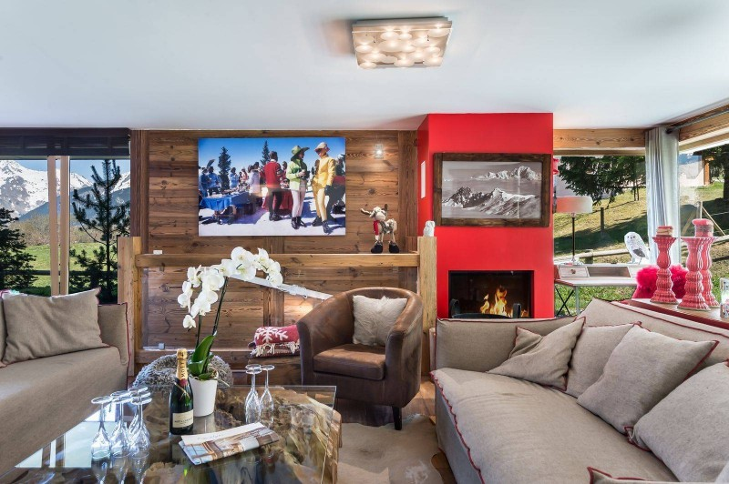 Courchevel 1300 Luxury Rental Appartment Tilure Living Room 3