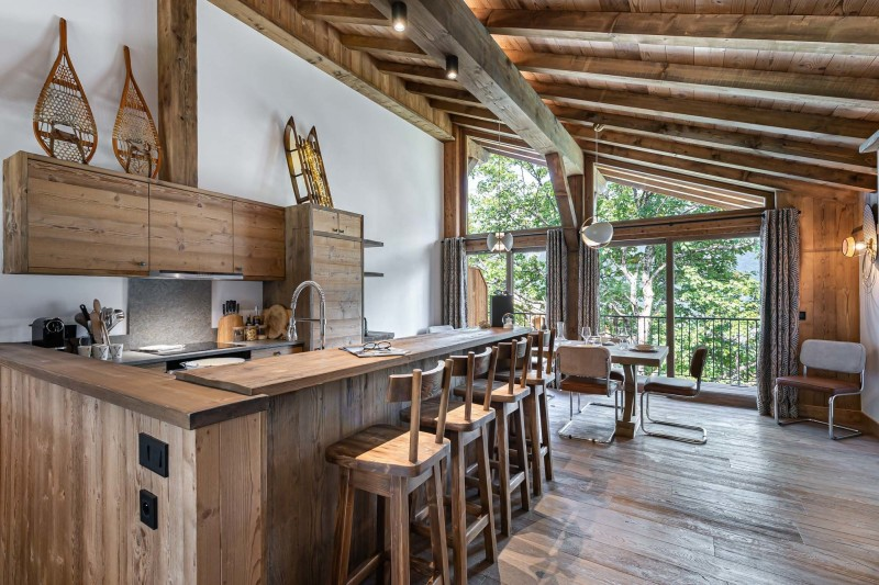 Courchevel 1300 Luxury Rental Appartment Tilute Kitchen